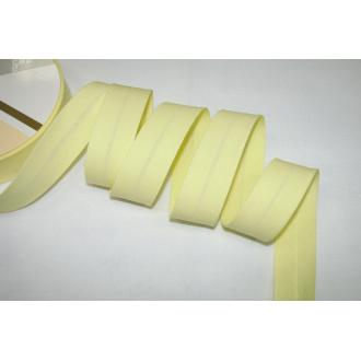 Šikmý prúžok bavlna zažehlený 30mm - žltá