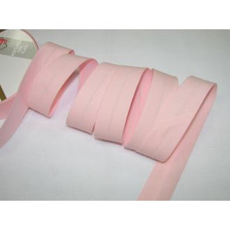 Šikmý prúžok bavlna zažehlený 30mm - ružová