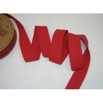 Šikmý prúžok bavlna zažehlený 30mm - červená