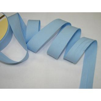 Šikmý prúžok bavlna zažehlený 30mm - svetlo modrá