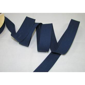 Šikmý prúžok bavlna zažehlený 30mm - tmavo modrá
