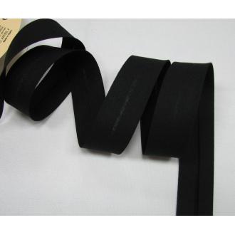 Šikmý prúžok bavlna zažehlený 30mm - čierna