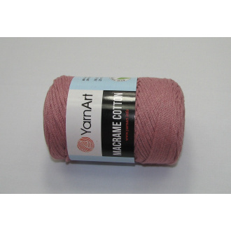 YarnArt Macrame cotton 250g - 792 staro ružová