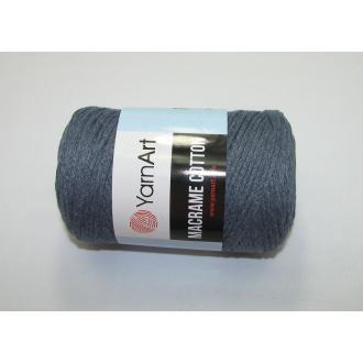 YarnArt Macrame cotton 250g - 761 modro šedá