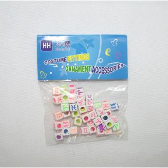 Plastové korálky s písmenkami
