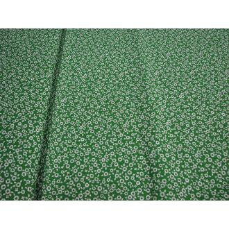 Bavlna kvietok š.150cm zelená