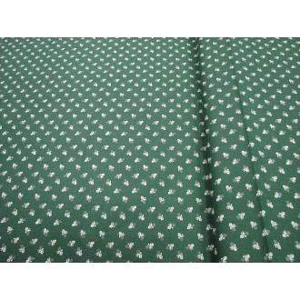 Bavlna kvietok š.140cm zelená