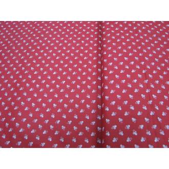 Bavlna kvietok š.140cm červená