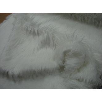 Kožušina biela dlhý vlas š.150cm