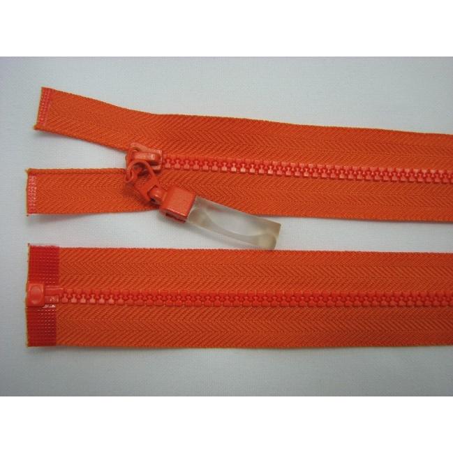Zips kostenný deliteľný 3mm - dĺžka 25cm oranžový
