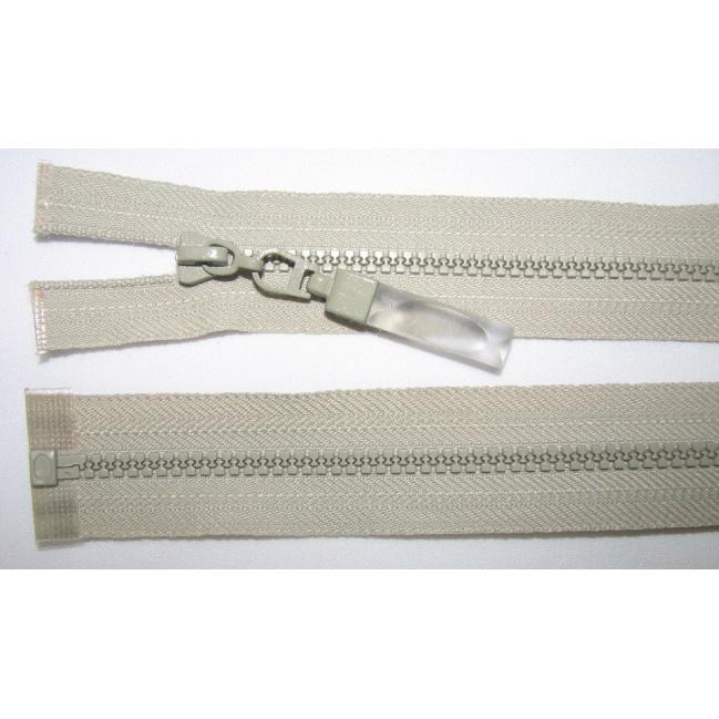 Zips kostenný deliteľný 3mm - dĺžka 25cm bledo šedý