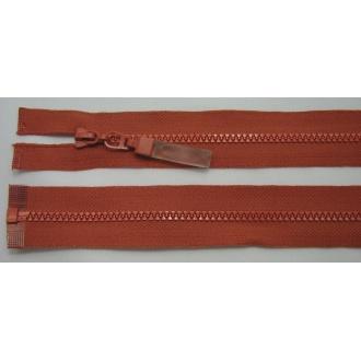 Zips kostenný deliteľný 3mm - dĺžka 25cm tehlová