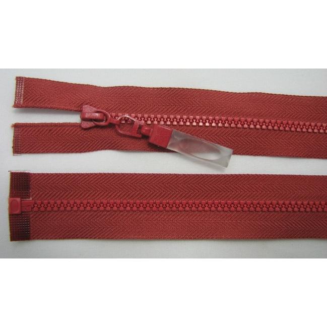 Zips kostenný deliteľný 3mm - dĺžka 25cm tmavá tehlová