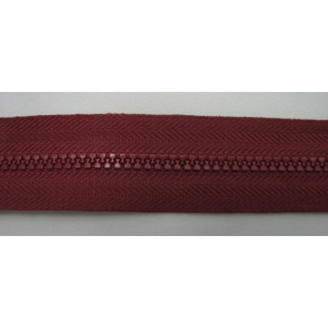 Zips kostenný deliteľný 3mm - dĺžka 25cm tmavá bordová