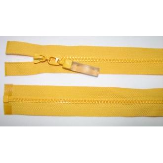 Zips kostenný deliteľný 3mm - dĺžka 25cm žltá