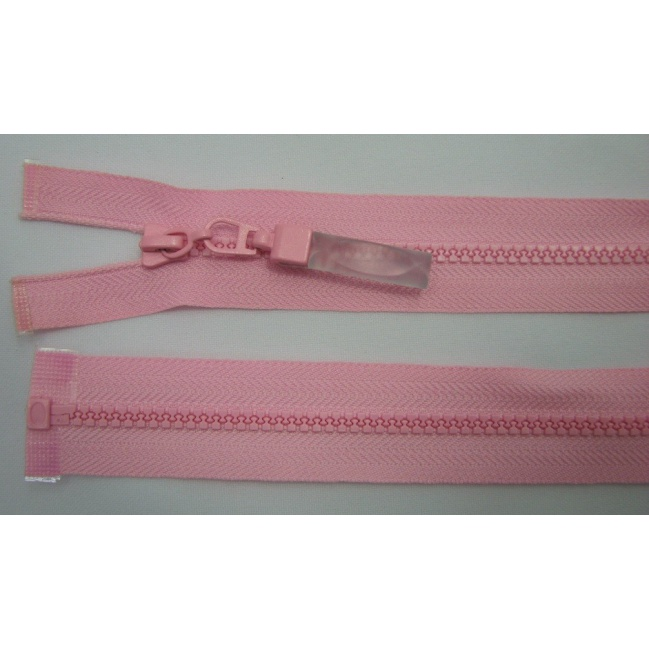 Zips kostenný deliteľný 3mm - dĺžka 25cm ružová