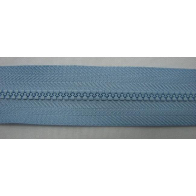 Zips kostenný deliteľný 3mm - dĺžka 25cm bledo modrý