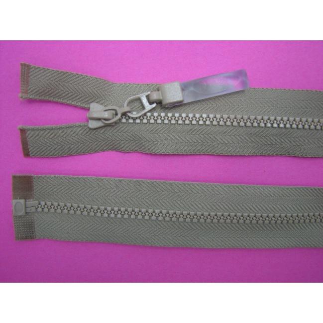 Zips kostenný deliteľný 3mm - dĺžka 25cm tmavší hnedý