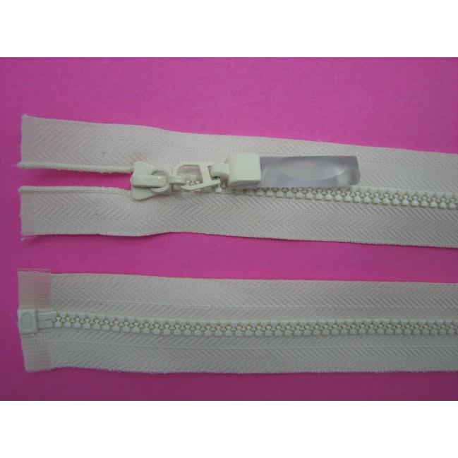 Zips kostenný deliteľný 3mm - dĺžka 25cm bledý smotanový