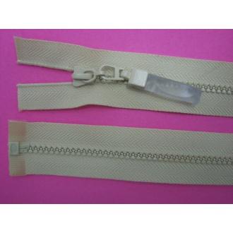 Zips kostenný deliteľný 3mm - dĺžka 25cm tmavší smotanový