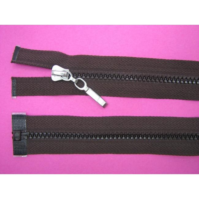 Zips kostenný deliteľný 3mm - dĺžka 45cm kovový bežec