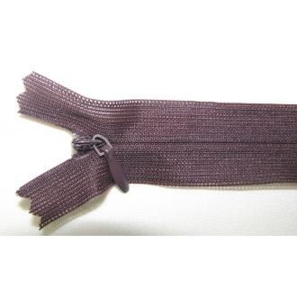 Zips krytý nedeliteľný 16cm tmavo hnedý