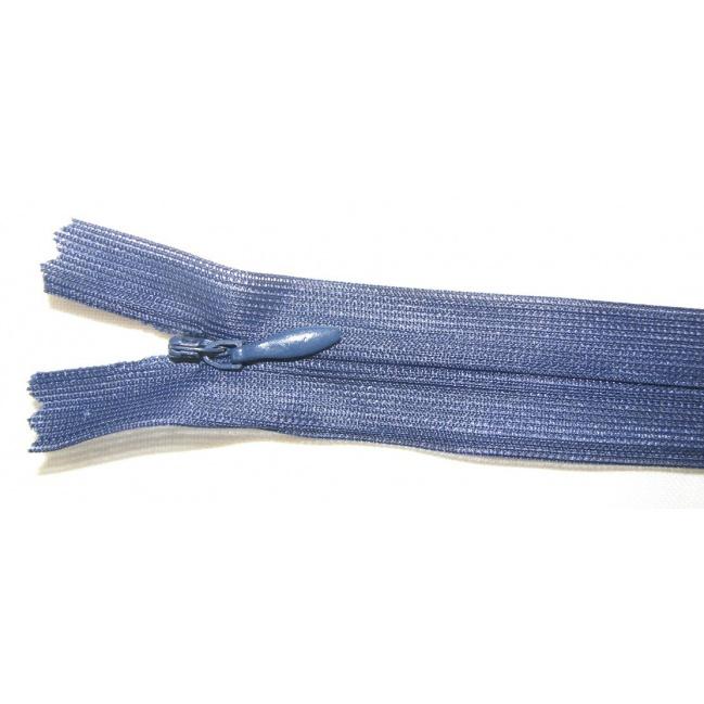 Zips krytý nedeliteľný 16cm tmavo modrý