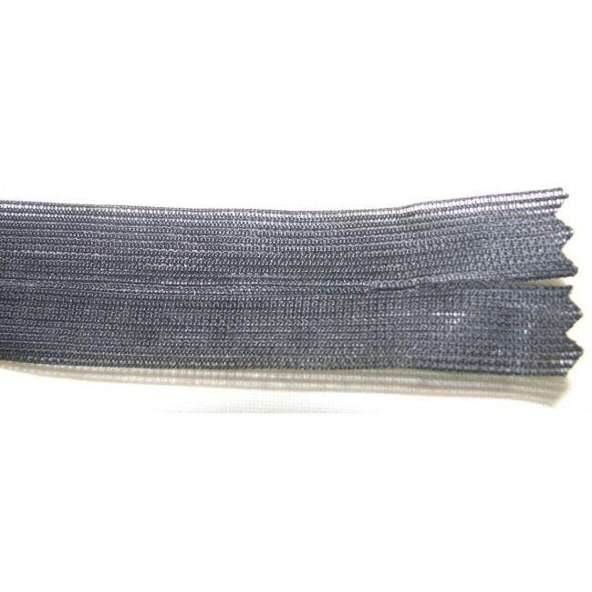 Zips krytý nedeliteľný 18cm čierny