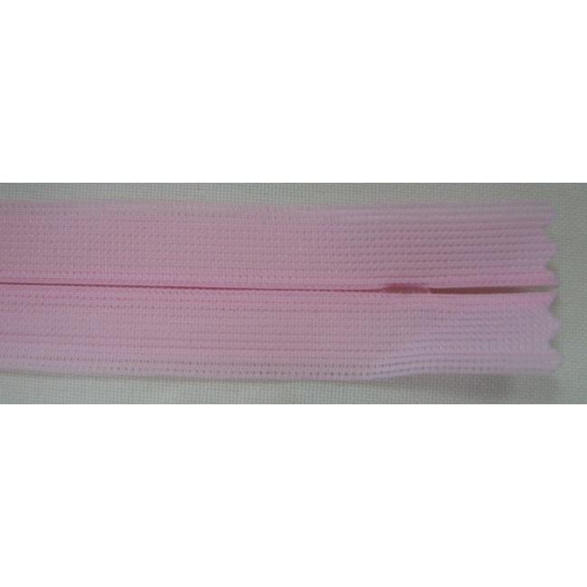 Zips krytý nedeliteľný 18cm bledo ružový