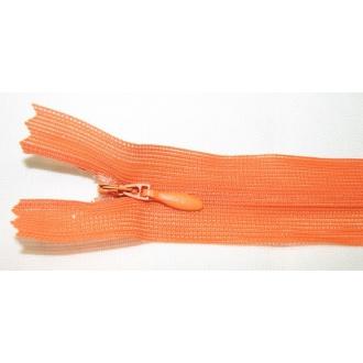 Zips krytý nedeliteľný 18cm oranžová