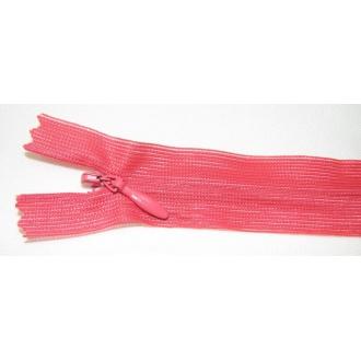 Zips krytý nedeliteľný 18cm červeno-oranžová
