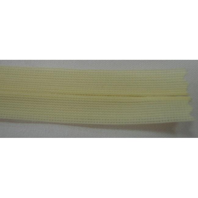 Zips krytý nedeliteľný 18cm bledá žltá