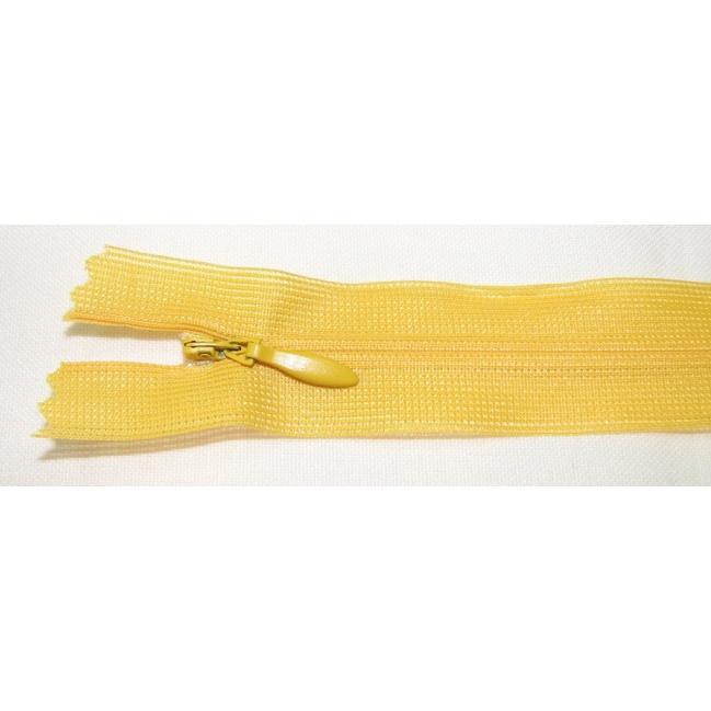 Zips krytý nedeliteľný 18cm žltá