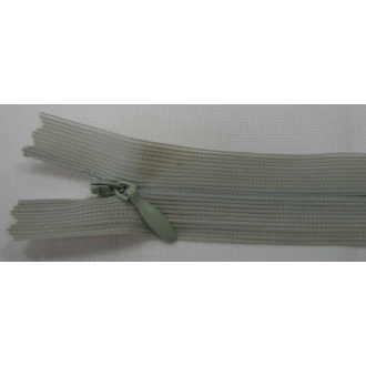 Zips krytý nedeliteľný 18cm zelená