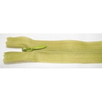 Zips krytý nedeliteľný 18cm zelená kaki