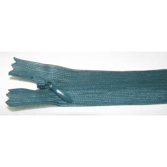Zips krytý nedeliteľný 18cm tmavá zelená