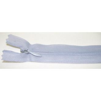 Zips krytý nedeliteľný 18cm bledo šedá