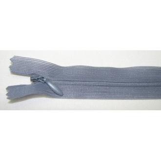 Zips krytý nedeliteľný 18cm tmavo šedá
