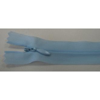 Zips krytý nedeliteľný 18cm modrý