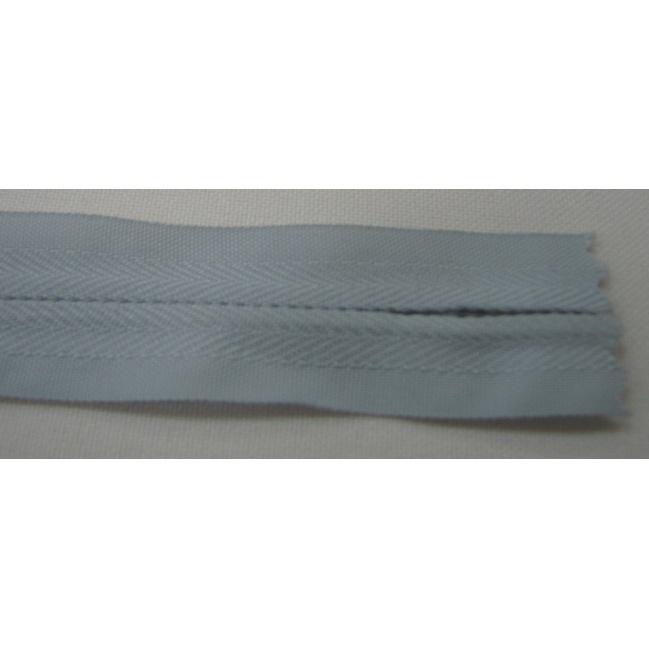 Zips krytý nedeliteľný Bavlnený 18cm šedý