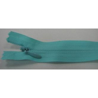 Zips krytý nedeliteľný Bavlnený 18cm modrá