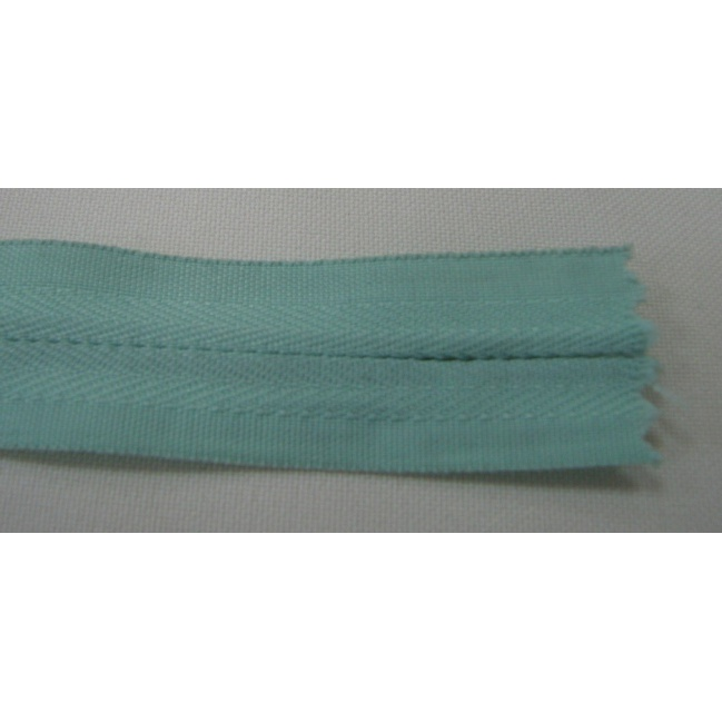 Zips krytý nedeliteľný Bavlnený 18cm bledučko zelená