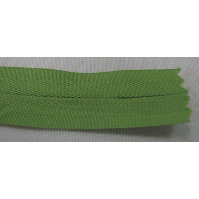 Zips krytý nedeliteľný Bavlnený 18cm zelená