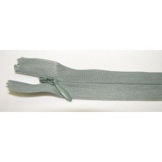 Zips krytý nedeliteľný 20cm zelená