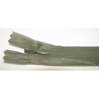 Zips krytý nedeliteľný 20cm tmavá zelená