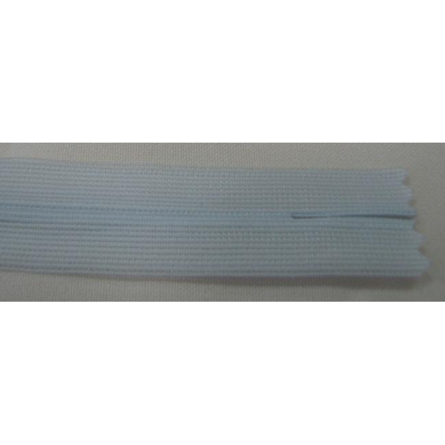 Zips krytý nedeliteľný 20cm bledučká modrá