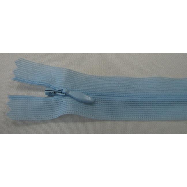 Zips krytý nedeliteľný 20cm modrá