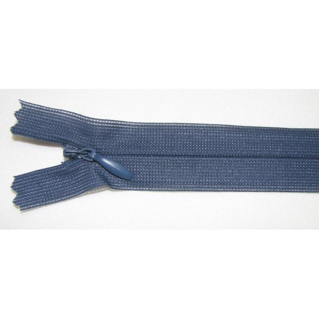 Zips krytý nedeliteľný 20cm tmavá oceľová