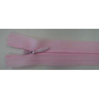 Zips krytý nedeliteľný 20cm ružový