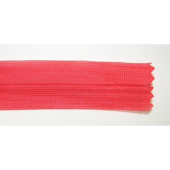 Zips krytý nedeliteľný 20cm červená